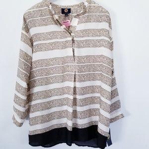 Adrienne Vittadini Tunic Pullover Blouse
